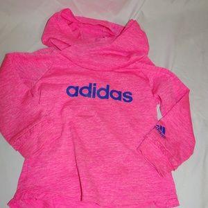 Adidas Girls Hoodie long sleeved tee 18 mos